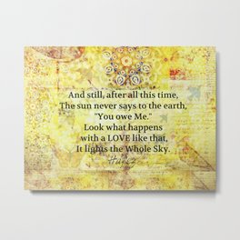 Hafez faith quote Metal Print