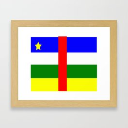 Flag of Central African Republic Framed Art Print
