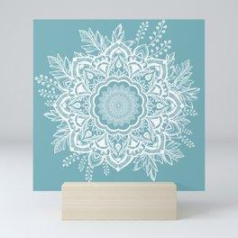 Mandala Bohemian Neptune Floral Wreath Illustration Mini Art Print