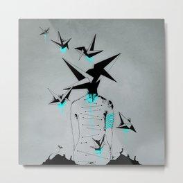 Origami's dream - A collaboration between Christelle Guilhen and Gwenola de Muralt - Metal Print