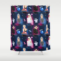 artpop Shower Curtains featuring ARTPOP Pattern by Ash Tarek