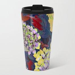 Hydrangea Yellow Travel Mug