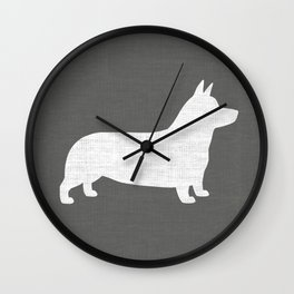Corgi Silhouette(s) Wall Clock