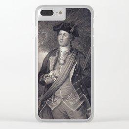 Vintage George Washington Portrait Clear iPhone Case