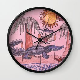 Swamp Hunt Wall Clock