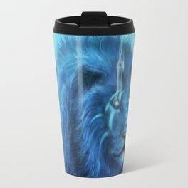 Blue Spirit Lion Travel Mug