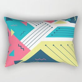 Geometric Memphis Rectangular Pillow