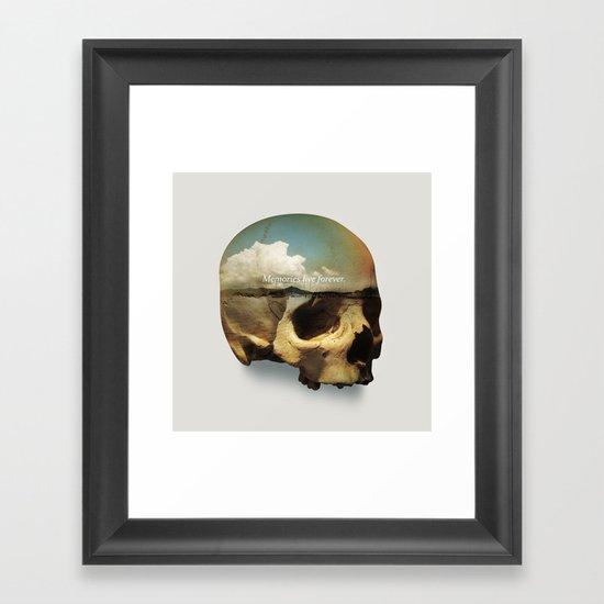 Memories live forever Framed Art Print