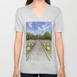Russian War Graves Budapest Unisex V-Neck