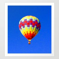 hot air balloon Art Prints featuring  hot air balloon by Lavender~Ramonde