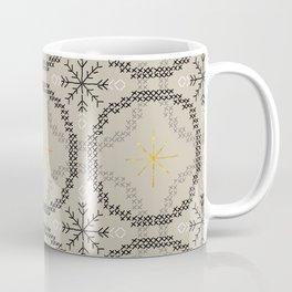 Stitched Bubbles Beige Coffee Mug