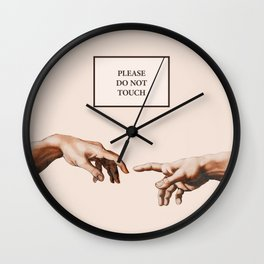 The Creation of Adam by Michelangelo Wall Clock