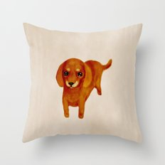 Dachshund brown Throw Pillow