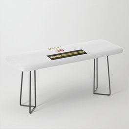 Zip it Black Yellow Red jGibney The MUSEUM Gifts Bench