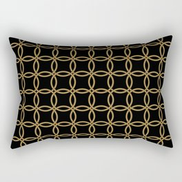 Links, Blk/Gld Rectangular Pillow