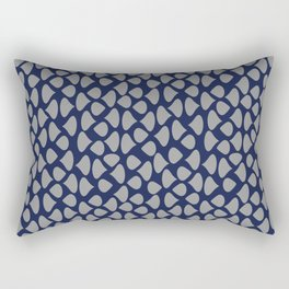 Blue Blob Rectangular Pillow