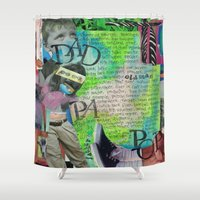 dad Shower Curtains featuring Dad by Mary Klump Studio
