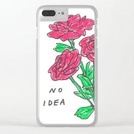 no idea Clear iPhone Case