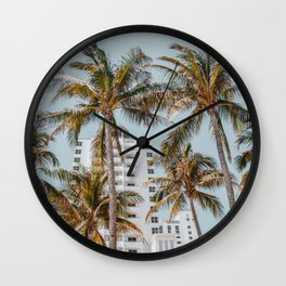 palm trees vii / miami beach, florida Wall Clock