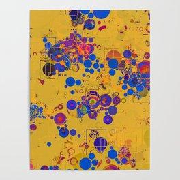Vibrant Multi Color Abstract Design Poster