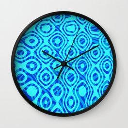 Mixed Polyps Blue - Coral Reef Series 036 Wall Clock