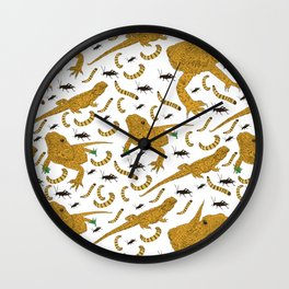 Large Bearded Dragon pattern Wall Clock