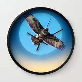Moments - Full Moon - Sunset Wall Clock