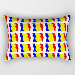 Flag of romania-romania,romanian,balkan,bucharest,danube,romani,romana,bucuresti Rectangular Pillow