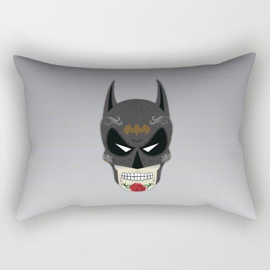 Bat-Man Sugar Skull Rectangular Pillow