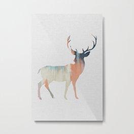 Pastel Deer Metal Print