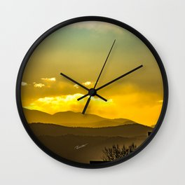 Mountains West of Denver Wall Clock