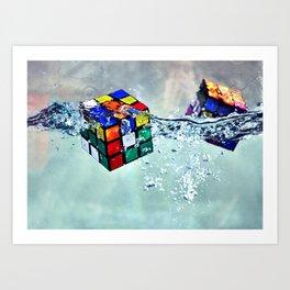 Water Solving Art Print