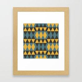 Traditional Geometric Pattern Framed Art Print