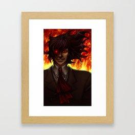 Hell Fire Framed Art Print