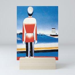 Kazimir Malevich - Man in Suprematic Landscape Mini Art Print