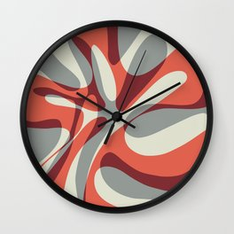 Orange Wave Wall Clock