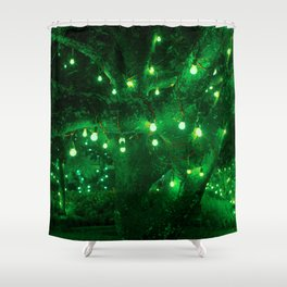 Light bulb garden Shower Curtain