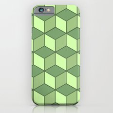 Lime cubes iPhone 6s Slim Case
