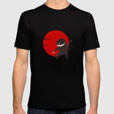 Little Ninja Star - Night version Mens Fitted Tee X-LARGE Black