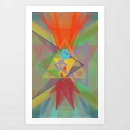 hearts & more - triangle head 101 Art Print