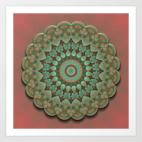 Simple Mandala Art Print