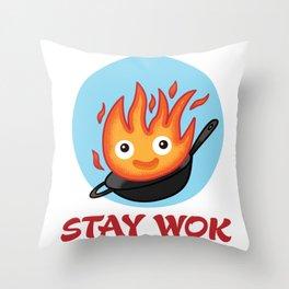 Stay Wok Throw Pillow