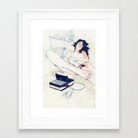 tape Framed Art Prints featuring Nothing to say by Anton Marrast