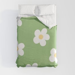 Retro 60's Flower Power Print Duvet Cover