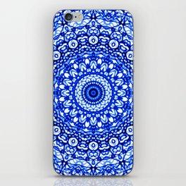 Blue Mandala Mehndi Style G403 iPhone Skin