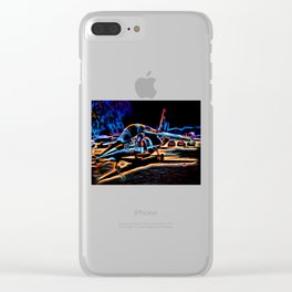 Neon Jet Clear iPhone Case
