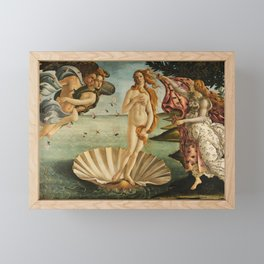 The Birth of Venus - Nascita di Venere by Sandro Botticelli Framed Mini Art Print