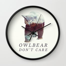 Owlbear (Typography) Wall Clock