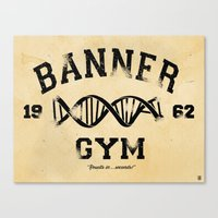 gym Canvas Prints featuring Banner Gym by Mitch Ethridge