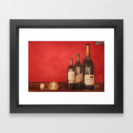 Wine on the Wall Framed Art Print